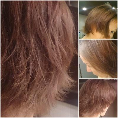 zdjęcia włosów w 7 dniu eksperymentu z jajami