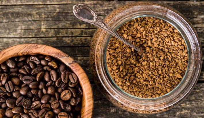 kawa rozpuszczalna, kawa